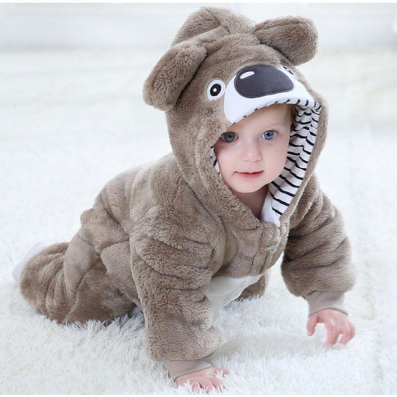 Baby RomperToddler Boy Girl Koala Costume Kawaii Cute Warm Onesie Newborn Infant Animal Jumpsuit Winter Clothes Kigurumis Pajama