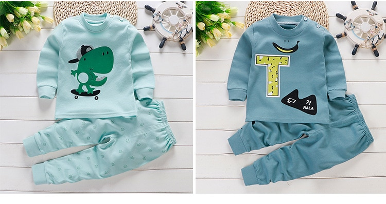 2020 Baby Boys Girls Clothing Sets Infant Clothes Suits  Long-sleeved T Shirt + Pants Kids Children Costume