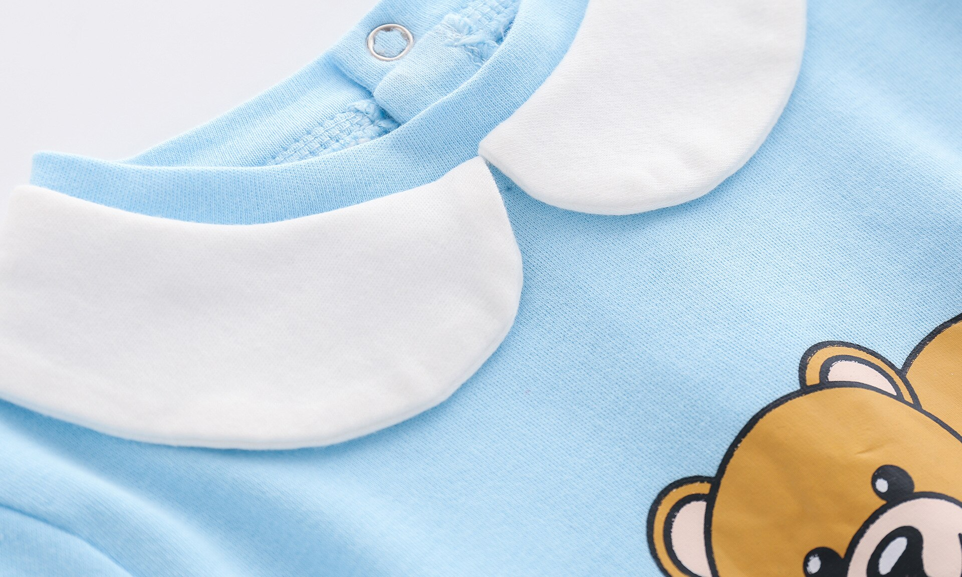 New 2021 Spring autumn newborn baby toddler clothes cotton Unisex Cartoon long-sleeved baby boy girls romper And hat Bibs Sets