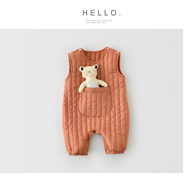 MILANCEL 2020 Baby Clothing Newborn Baby Clothes Winter Girls Rompers Sleeveless Toddler Boy Jumpsuit Vest Infant Outerwear