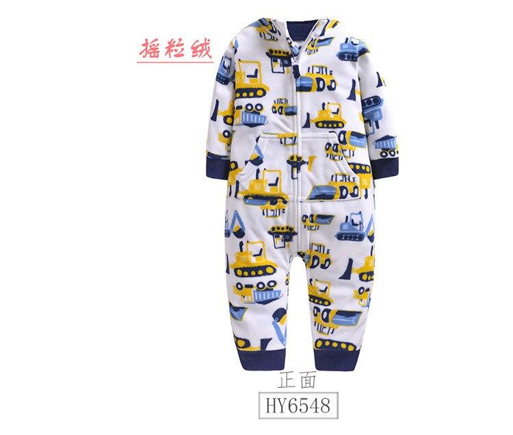 Baby clothes boys pajamas outwear boy Camouflage zipper jumpsuit fleece winter pajamas warm baby girl romper newborn baby stuff