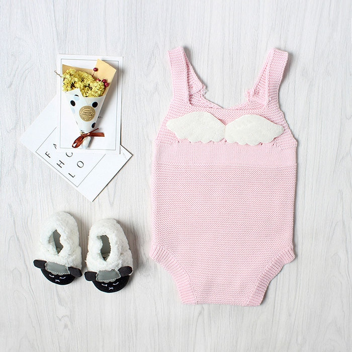 Baby Knitting Rompers Cute Overalls Newborn Girls Boys Clothes Baby Girl Boy Sleeveless Romper Jumpsuit Toddler Knit Romper