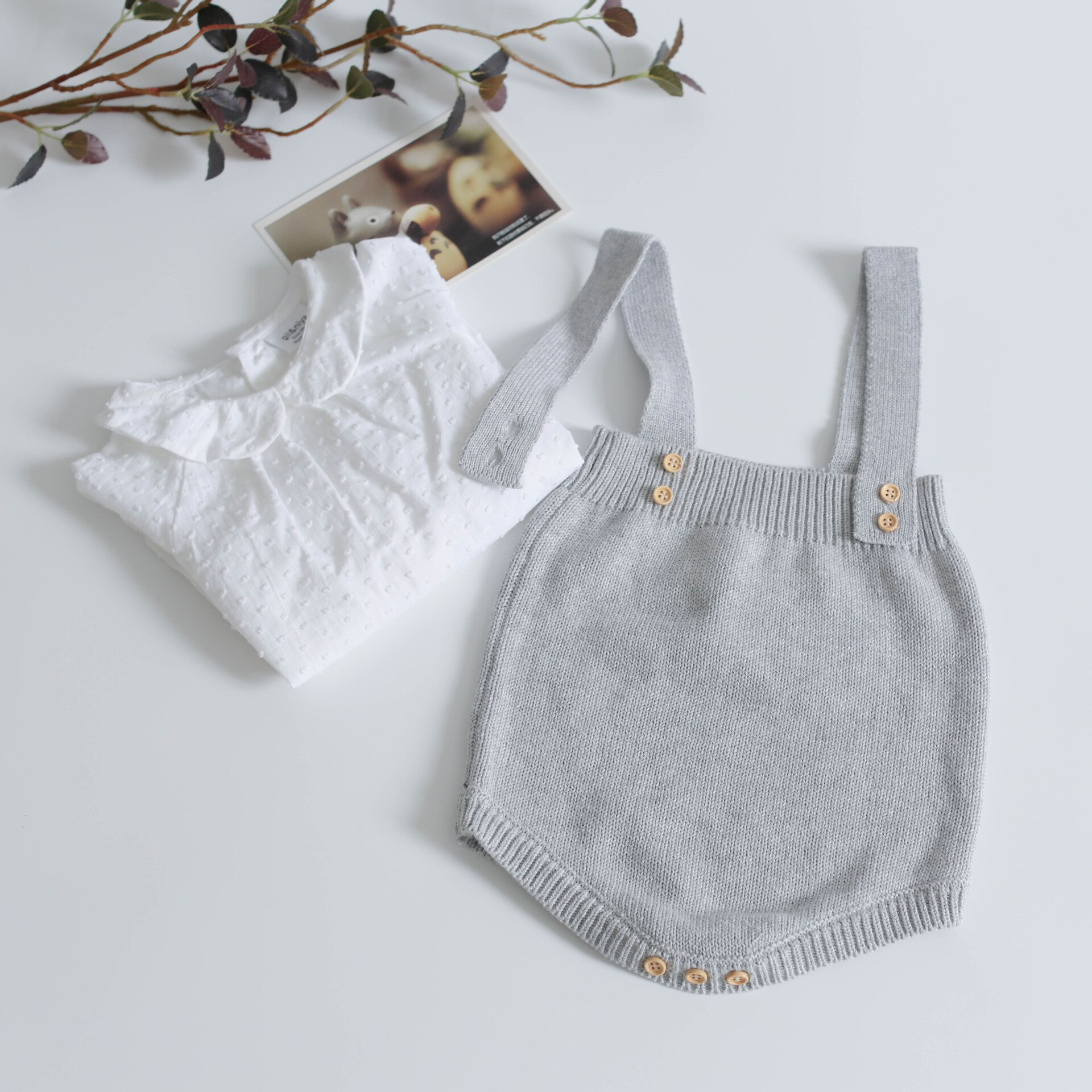 Baby Knitted Rompers Cute Overalls Newborn Baby Girls Boys Clothes Infant Baby Girl Boy Sleeveless Romper Jumpsuit 0-24months