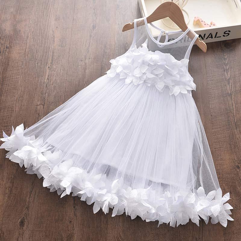 Girl Dress 2021 New Summer Cotton Children Clothing Sleeveless Toddler Princess Kids Dresses for Girls Clothes Embroidery Dress