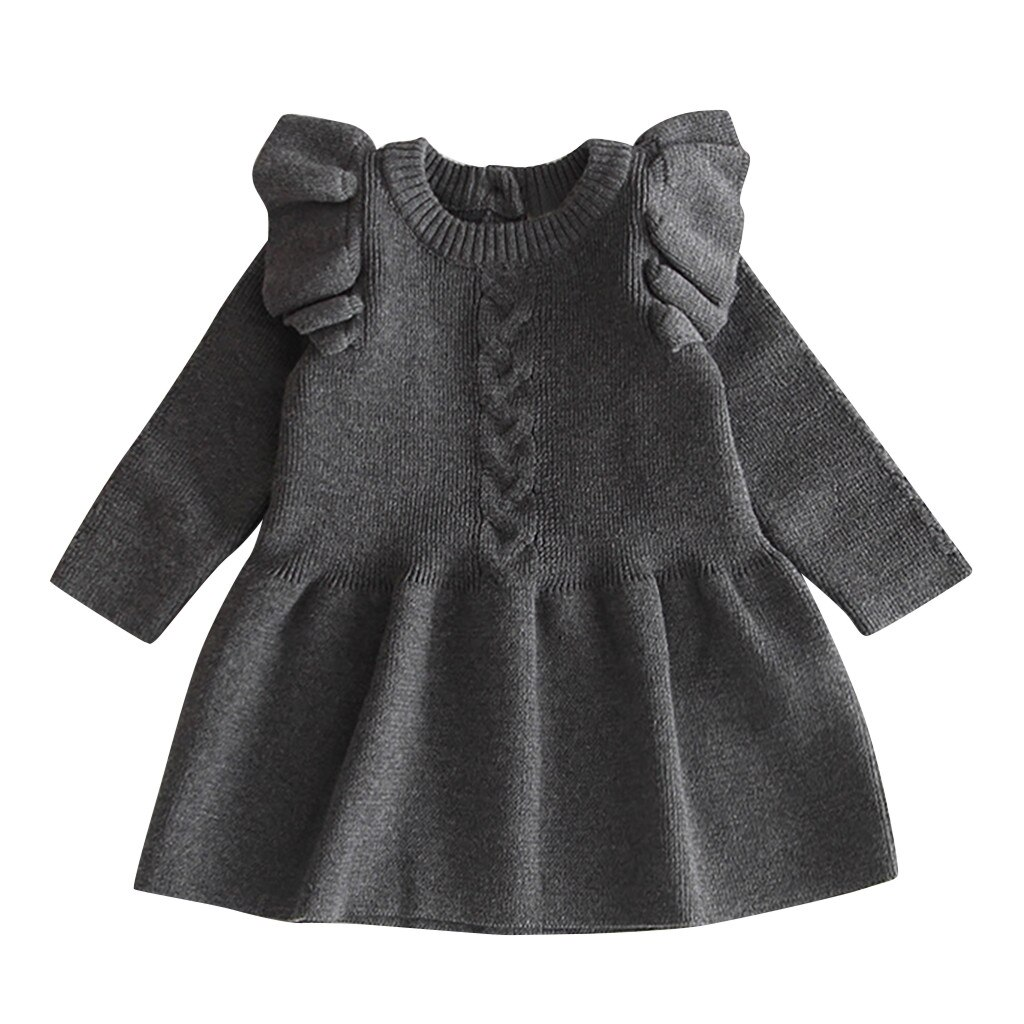 baby girl dress baby dresses girl vestido infantil vestidos vestidos infantil clothes Casual Solid Long Sleeve O-neck 6M-4Y Z4