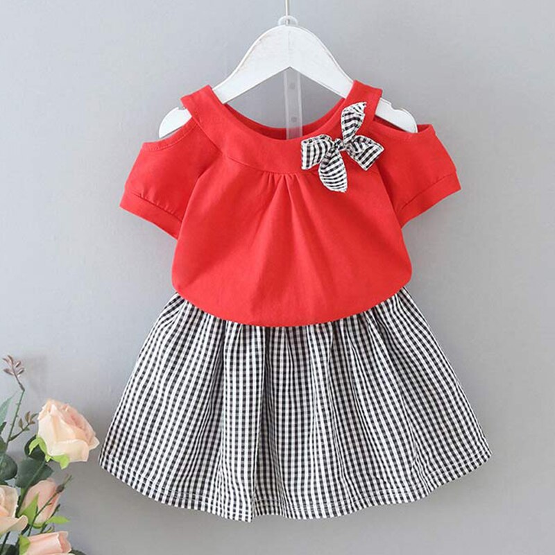 Baby Girls Clothes Set 2021 Summer Flare Sleeve Children Clothing White T-shirt and Shorts for Girl Kids Clothes 2 5 6 Years