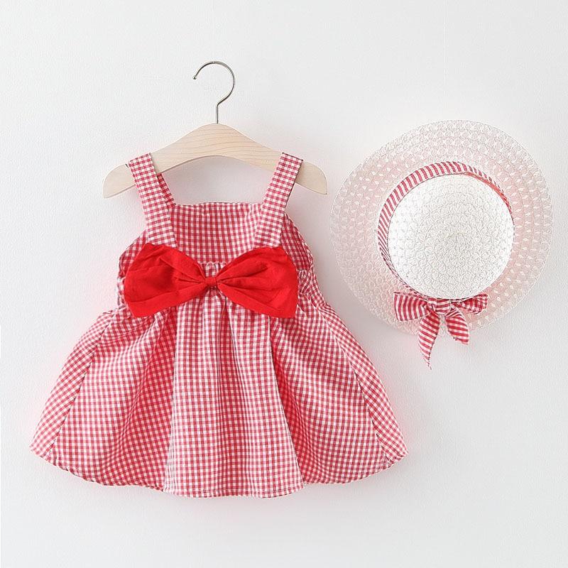 Melario Baby Girl Dress Summer Sweet Princess Dress for Baby Dresses Girl Birthday Dress With Hat robe bebe fille