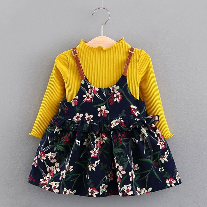 Bear Leader Toddler Girls Dress 2021 New Fashion Kids Flowers Outfits Cute Baby Girls Clothes Lace Sweet Costumes Casual Suits