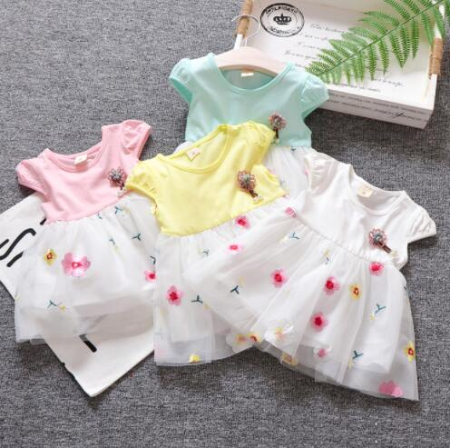 Baby Girls Summer Wedding Dresses Newborn Baby Fashion Cute Lace Princess Party Dress For Bebe Girls Toddler Birthdays Clothes