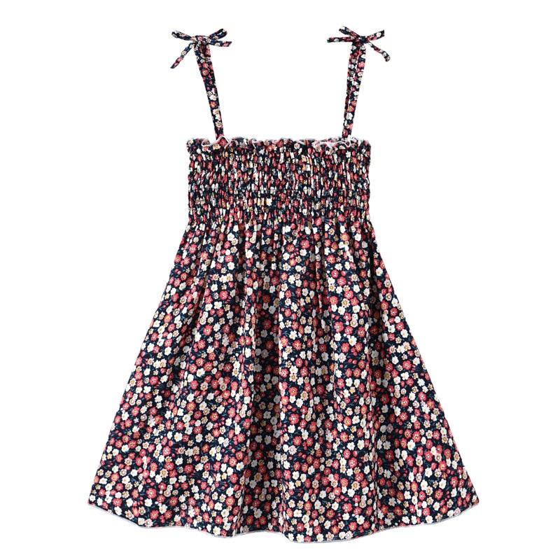 2 pcs/lot 1-6Y Baby Girls Sleeveless Daisy Flower Dresses Kids Summer Princess Braces Dress Children Party Ball Pageant Clothes
