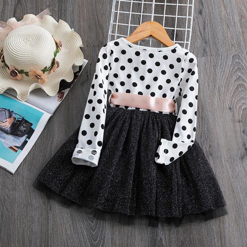 Fancy Baby Girls dresses 2020 New Autumn& Winter Casual Style Asymmetrical Striped Princess Dress The party For Children Clothes