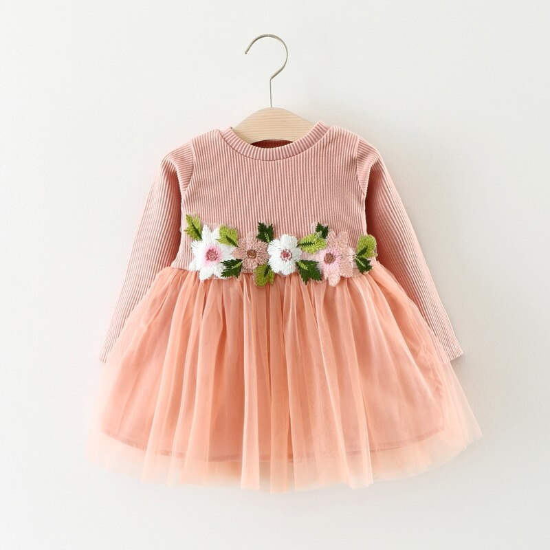 Baby Girl Clothes Baby Girls Dress 2019 Autumn Baby Clothes Fashion Solid Knitting Princess Girls Dress Girls Clothes