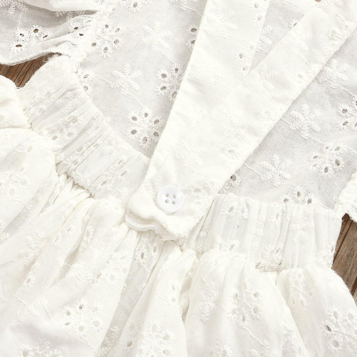 Qunq White Lace Baby Girls Romper With Headband Summer Ruffle Sleeve Infant Girls Dress 1 Year Newborn Princess Birthday Costume