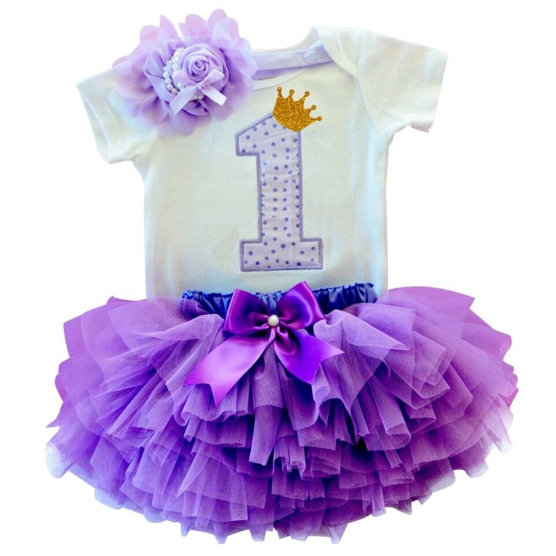 One Year Baby Girl Dress Birthday 1 Year Baptism Tutu Dresses Princess Toddler Girl Party Outfits Costume Summer Kids Clothes