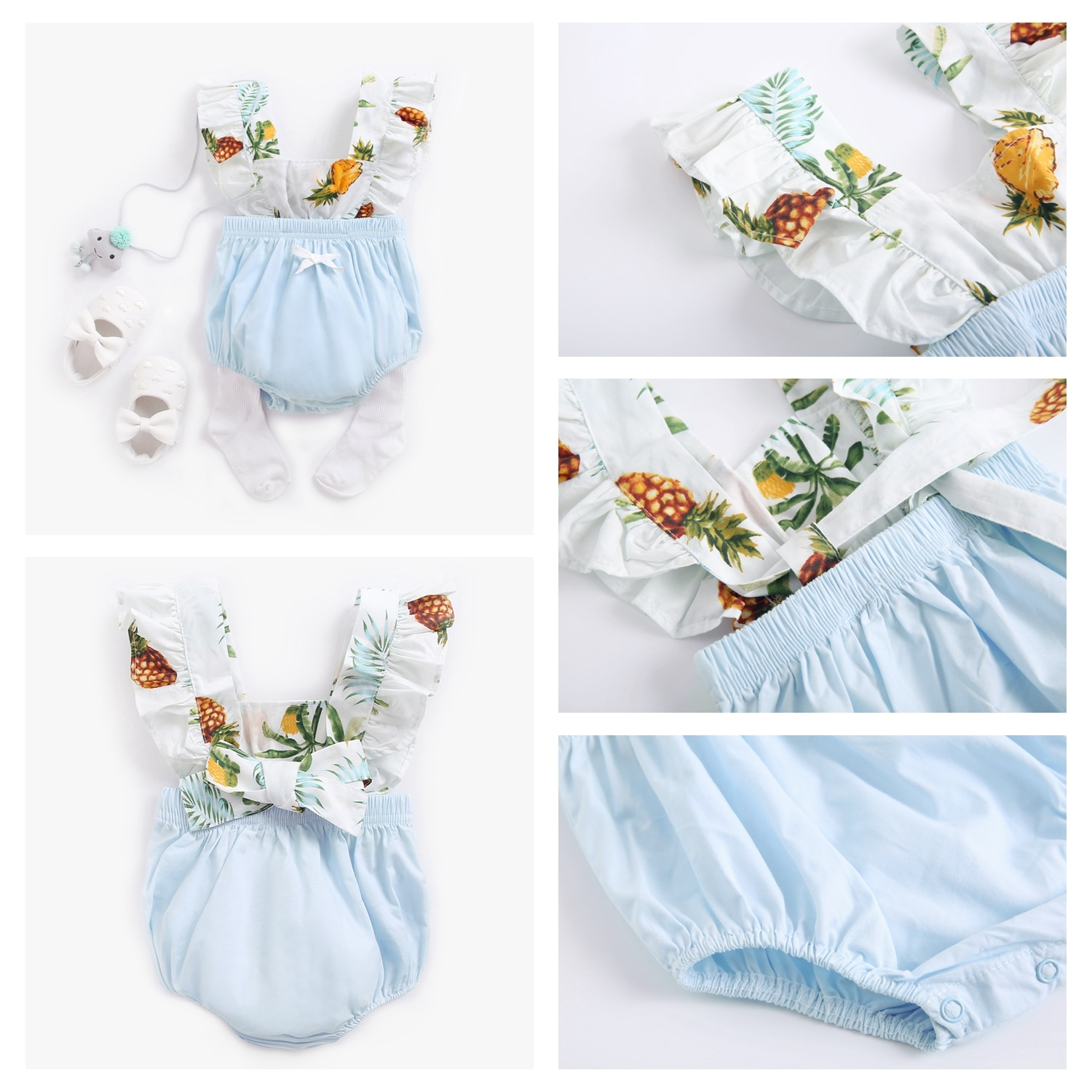 Sanlutoz Flowers Baby Girls Rompers Summer Clothes for Baby Girl Princess Cotton Toddler Infant Clothing Cute