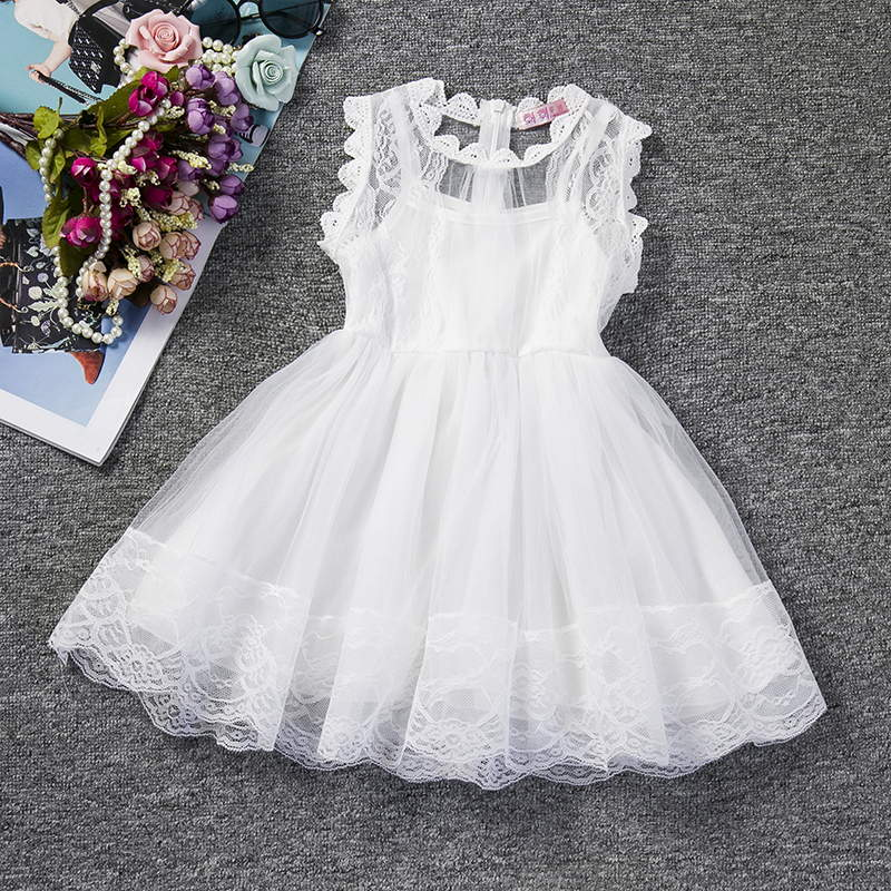 Flower Newborn Baby Dress New Summer Cute Baby Girls Clothes Tulle Lace Infant XMAS Party Clothing 1 Year Birthday Dress