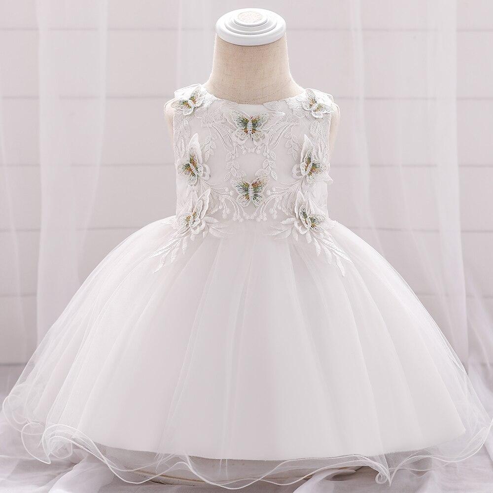 Summer Flower Baby Girl Clothes Princess Newborn Dress Girl Party Wedding Dress Infant 1 Year Birthday Prom Christening Dress