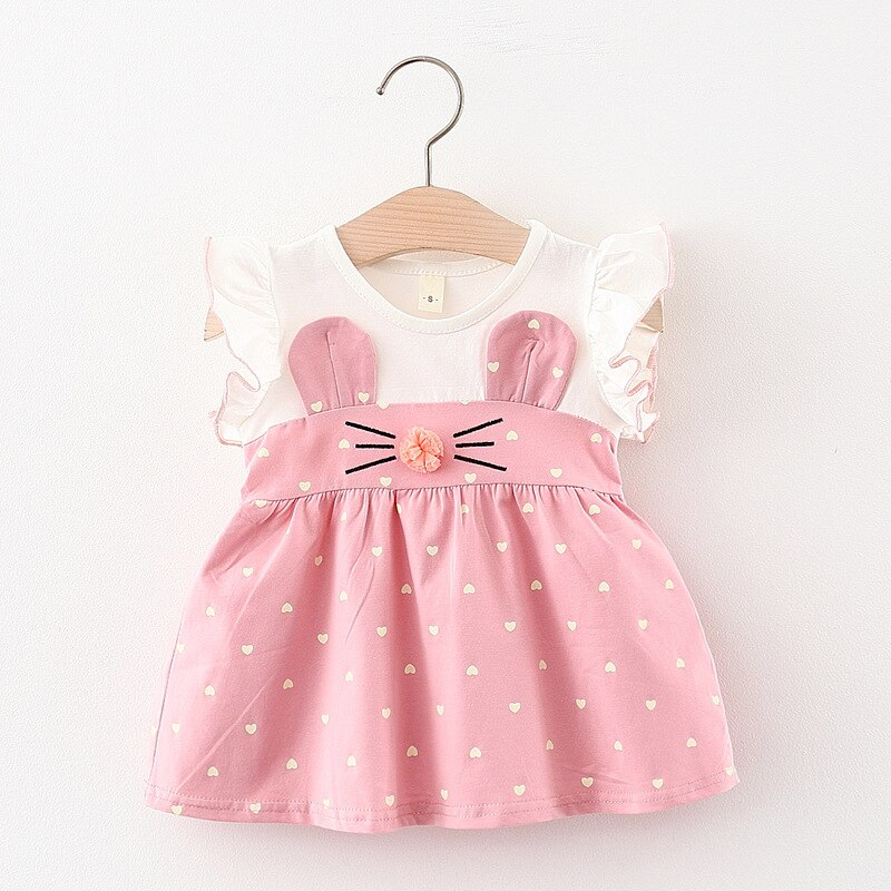 Toddler Kids Baby Girl Cute Baby Dress Patchwork Tulle Clothes Princess Dress Party Birthday Costume Infant Clothing 6-24M