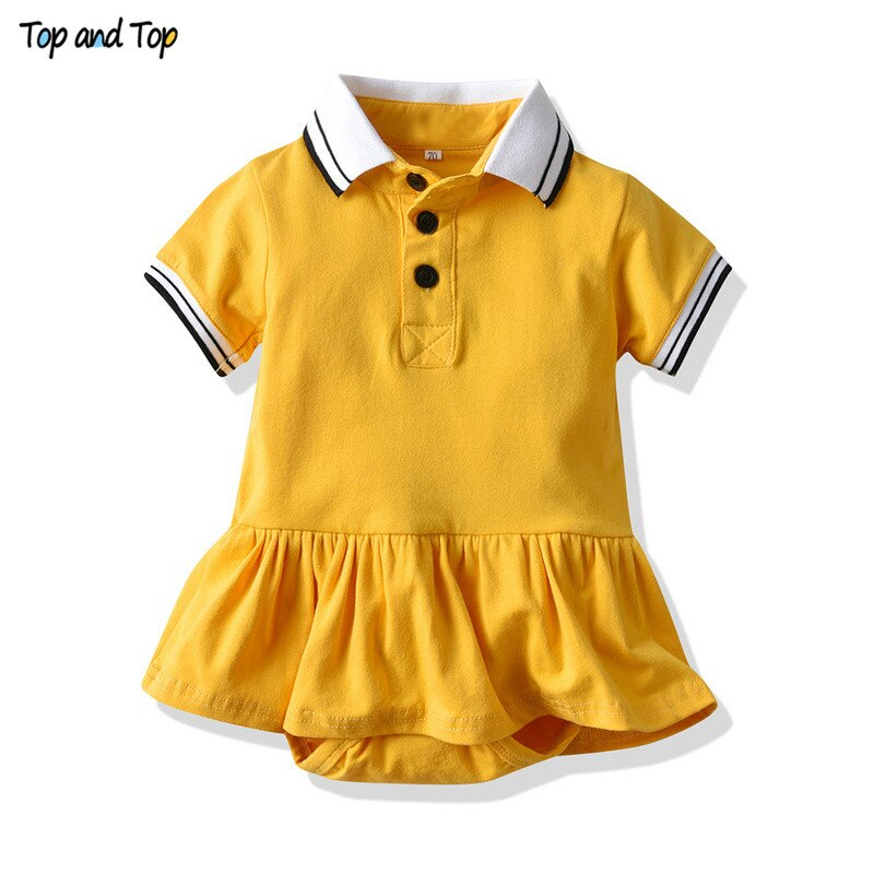 Top and Top Summer Newborn Baby Girl Ruffles Dress Princess Short Sleeve Infant Girls Casual Party Dress Toddler Tutu Sundress