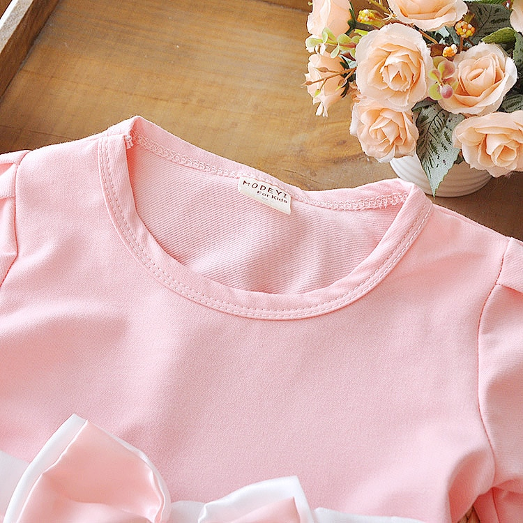 Cute Baby Girl Dress Cotton Children Kids Baby Girls Dresses One Piece Baby Autumn Clothing For School Casual Wear Clothes Girl