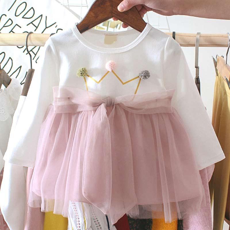 Toddler Dress 2020 Autumn Baby Girls Dress Cute Bunny Tutu Dress Baby Girl Outfits Newborn Baby Dress Clothes