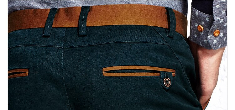 2021 Newest Brand Men's Trousers Pure Cotton Chinos Green Pants (YKK Zipper) -Dropshipping