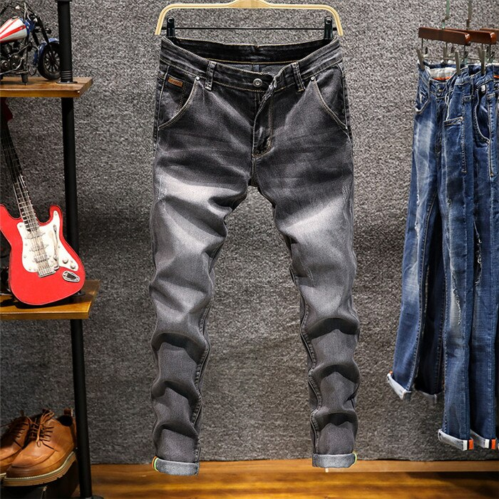 2020 New Style Men's Jeans Fashion Casual High-quality Stretch Skinny Jeans Men's Straight Slim Jeans Boutique Brand Trousers