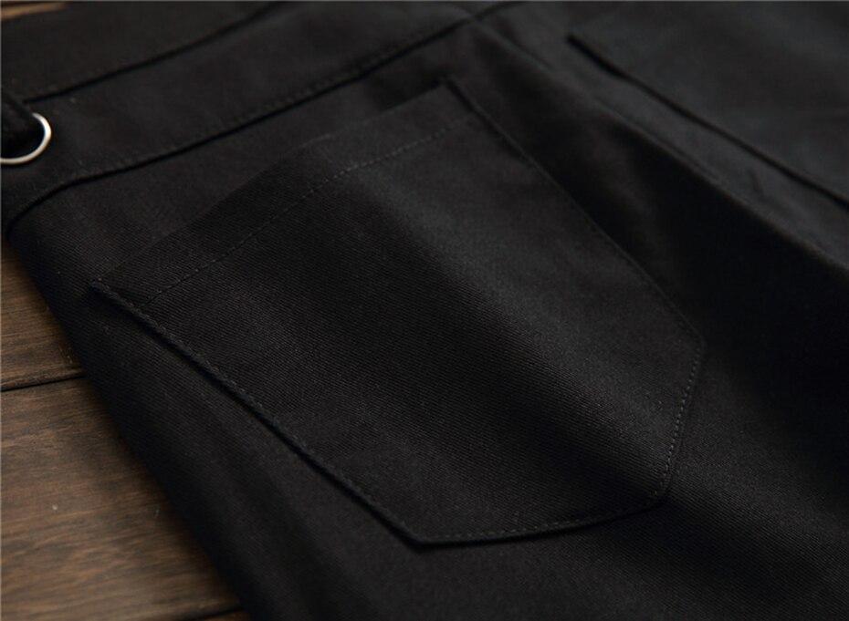 ABOORUN Men's Brand Skinny Jeans Fashion Plaid Patches Skull Printed Jeans Men's Hip Hop Streetwear Jeans x1614