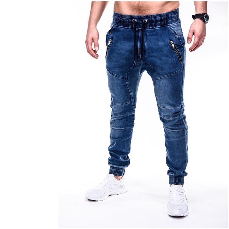 Mens Cool Designer Brand Black Jeans Skinny Zipper Draped jeans Men's jeans Smart Casual Frenum jeans Cargo Pants