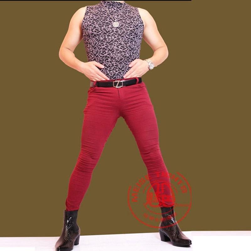 Sexy Men's Low Waist Skinny Jeans Package Legs Pencil Pants Skinny Boot Pants Stylist Fad Slim Leggings Soft Washable Unfading