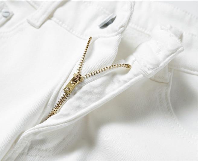 2019 Men Stretch Jeans Fashion white Denim Trousers For Male Winter fleece Retro Pants Casual Men's Jeans size 27-36