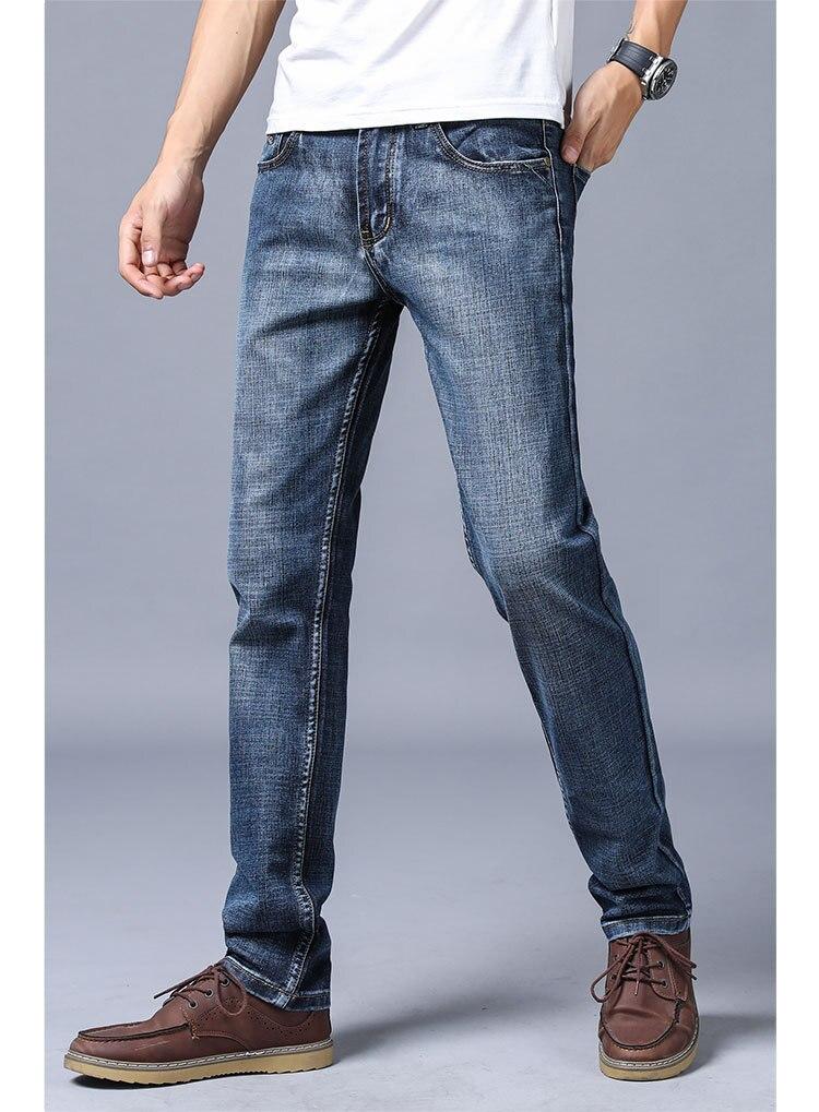 2020 Men's Jeans New Slim Straight Stretch Male Denim Pants Streetwear Blue Gray Casual Denim Trousers Fashion Mens Jeans Brand