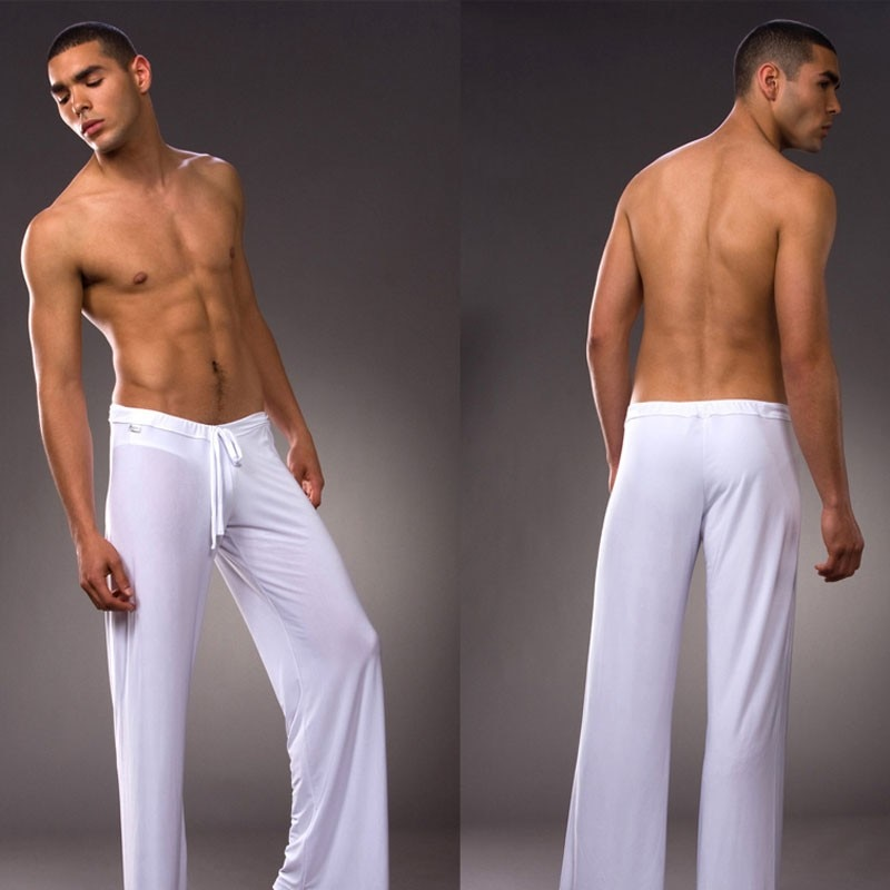High Quality!  Brand Pants Men's Pyjama Trousers Dance Harem Sweatpants Sleep Bloomers Casual Trousers 4 colors