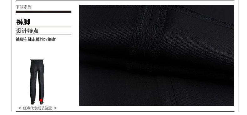 Winter Men's Pants Thick Black  Dress Pants Straight High Waist Trousers Anti-Wrinkle Smart Casual Pants Suit Trousers for Men