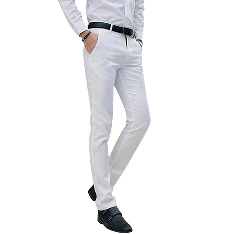 Business Men's Pants Gentle Man Trousers Fashion Male Straight Pants Solid Color Fit Smart Casual Pants
