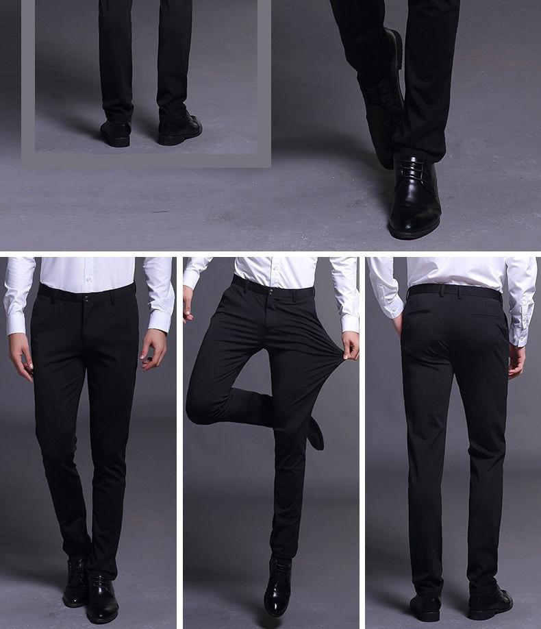 New Smart casual pants men's slim pants bermuda masculina thin tide business Casual SUIT PANTS kpop fashion men trousers black