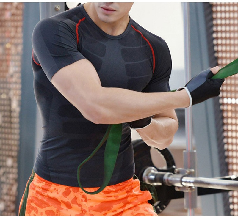 Clearance Sale Compression Men T-shirts workout Sports Running T-shirt Short Sleeve Jogger Tshirt Fitness Exercise Gym Clothing