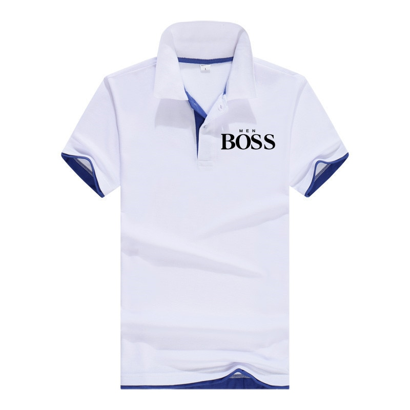 Summer new men's brand boss polo shirt thin short sleeve comfortable breathable lapel polo shirt quick-drying men's polo shirt