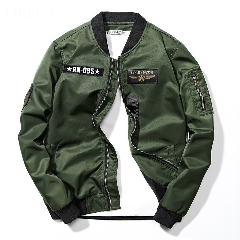 2020 new Autumn brand men's casual embroidery Jacket Large Men's pilot bomber MA1 jacket men's sports jacket motorcycle men top