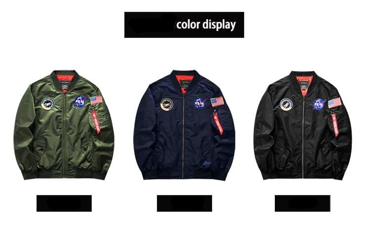 Winter 2020 new MA1 bomber men jacket casual sports jacket men's fashion embroidery men's top hip hop men's jacket flying jacket
