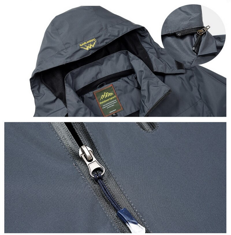 Men's Outdoor Hiking Jacket Men Spring Sports Rain Coat Climbing Trekking Windbreaker Fishing Waterproof Jackets