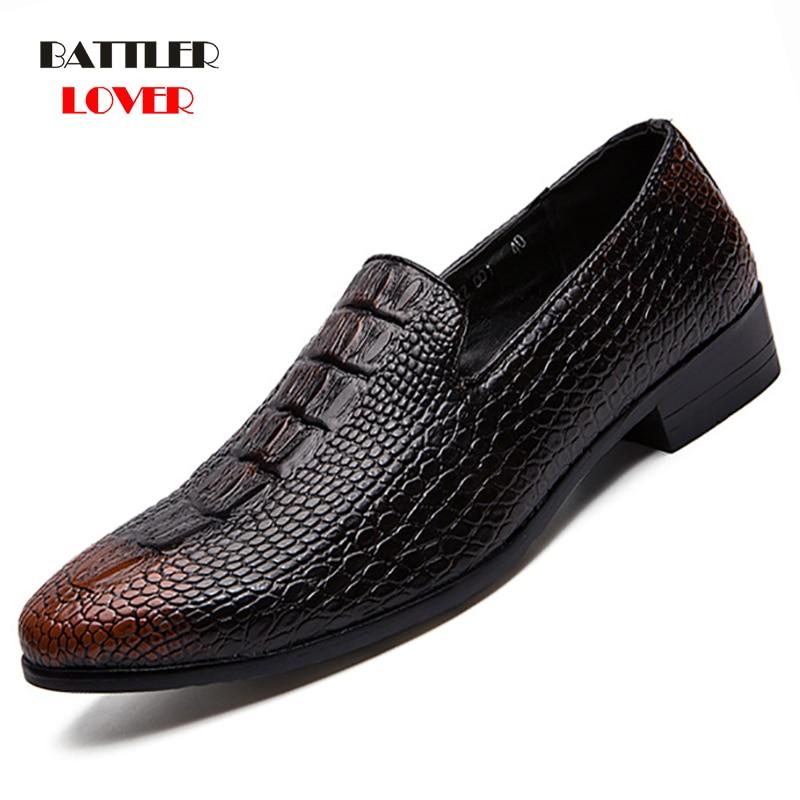 Men Formal Shoes 2020 Autumn & Winter Brand Wedding Dress Shoes Men New Footwear Black Fashion Design Leather Men's Shoes 38-48
