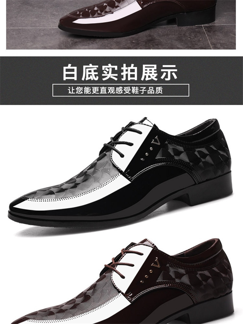 Classic Men's Dress Shoes Fashion Elegant Formal Wedding Shoes Men Slip On Office Oxford Shoes For Men Black Flat shoes