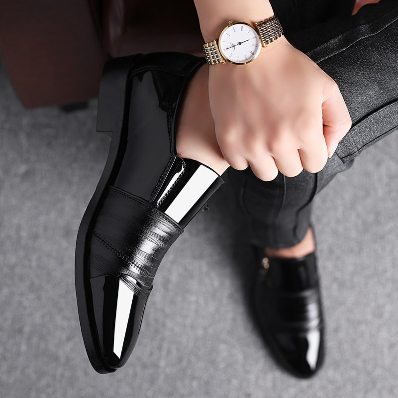 Classic Business Men's Dress Shoes Fashion Elegant Formal Wedding Shoes Men Non-slip Office Oxford Shoes For Pointed Men's Shoes