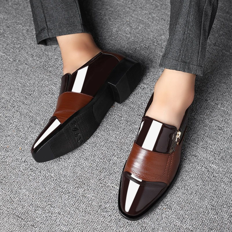 Classic Business Men's Dress Shoes Fashion Elegant Formal Wedding Shoes Men Non-slip Office Oxford Shoes For Pointed Men's Shoes