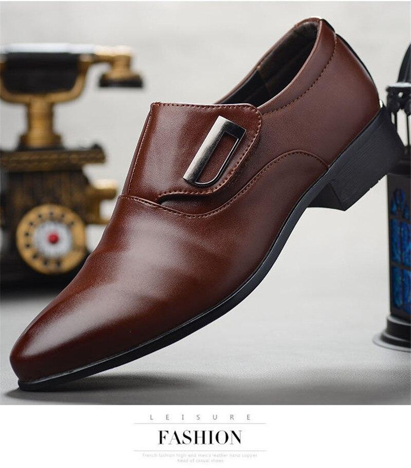 Designer Luxury Men Wedding Shoes Microfiber Leather Formal Business Pointed Toe for Man Dress Shoes Men's Oxford Flats On