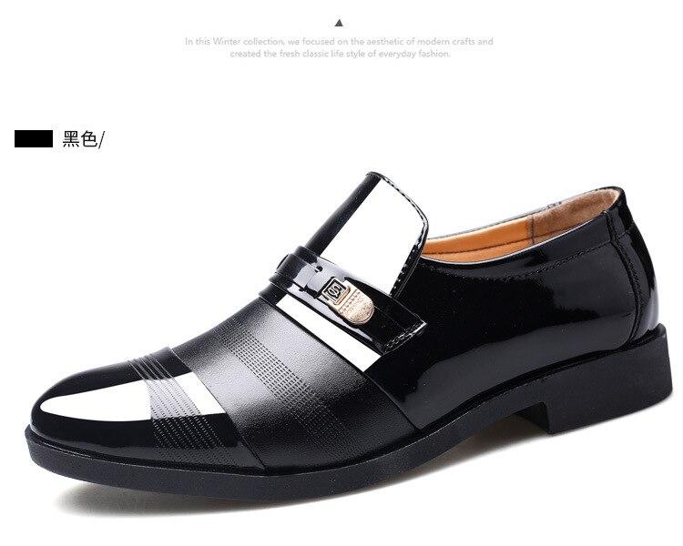 Men's Dress Shoes Business Shoes Men Oxford PU Leather Dress Shoes Men Oxford Patent Leather Zapatos De Hombre De Vestir Formal