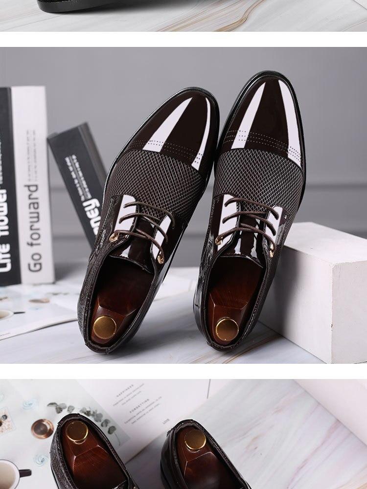 Men's Formal Shoes Pointed Toe Shoes Men Business Shoes PU Leather Mens Dress Wedding Shoes Party Shoes