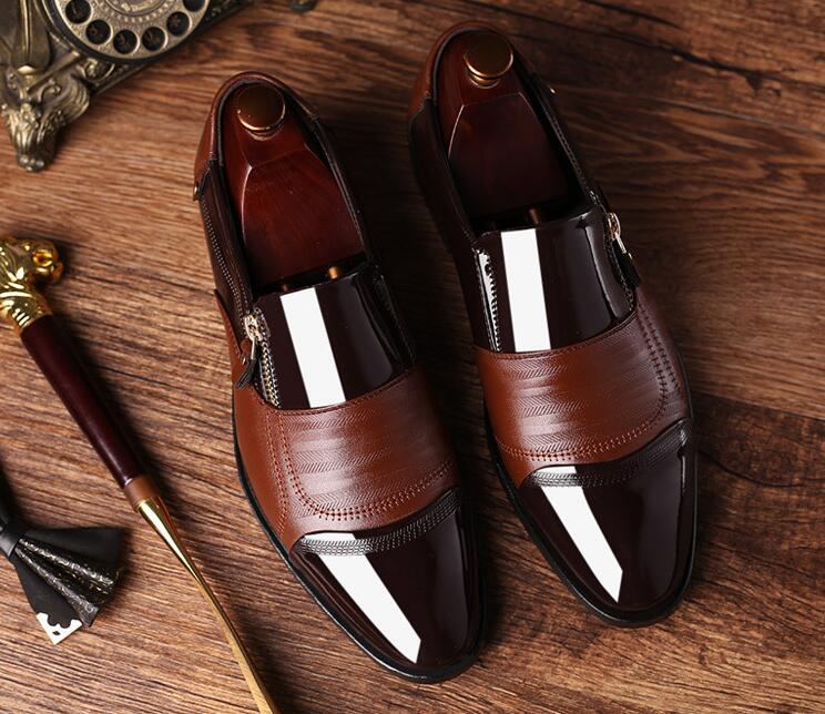 2020 Classic Business Men's Dress Shoes Fashion Elegant Formal Wedding Shoes Men Slip On Office Oxford Shoes For Men Black