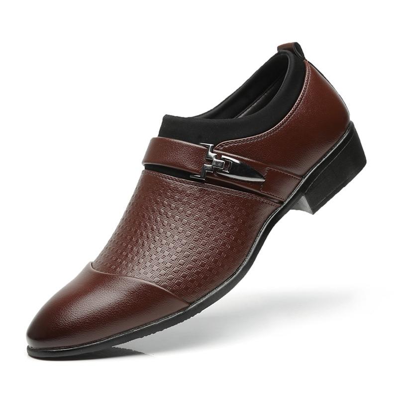 Men's dress shoes Leather Men Formal Shoes Large Size 45-48 Fashion Men Classic Business PU Shoes For Gentleman Sneakers